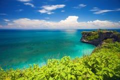 Взгляд пляжа Balangan в Бали, Индонезии, Азии Стоковая Фотография RF