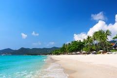 Взгляд пляжа Chaweng, Koh Samui, Таиланда Стоковое Фото