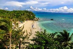 Взгляд пляжа Diniwid, острова Boracay, Филиппин стоковая фотография rf