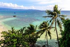 Взгляд пляжа Diniwid, острова Boracay, Филиппин Стоковое Изображение RF