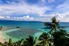 Взгляд пляжа Diniwid, острова Boracay, Филиппин Стоковые Фотографии RF