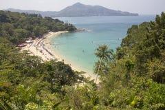 Взгляд пляжа Laem Singh Стоковая Фотография RF