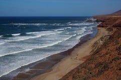 Взгляд пляжа Legzira Стоковое Изображение