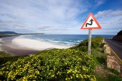 Взгляд пляжа Noordhoek сценарный, Стоковое Изображение RF
