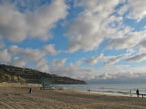 Взгляд пляжа Torrance и полуострова Palos Verdes в Калифорнии Стоковые Изображения RF