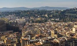 Взгляд раздела Флоренса Италия, европа Стоковые Фотографии RF