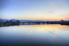 Взгляд рассвета города Тайбэя Стоковое фото RF