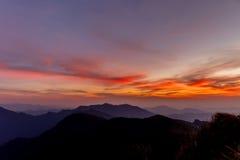 Взгляд рая захода солнца небесный Стоковые Фотографии RF