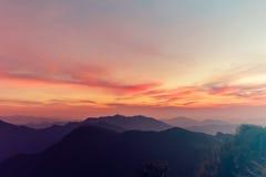 Взгляд рая захода солнца небесный Стоковые Изображения RF