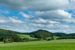 Взгляд рая и горы Winterkopf около Medebach Стоковое Изображение