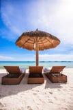 Взгляд рая славного тропического пустого песочного plage Стоковые Фотографии RF