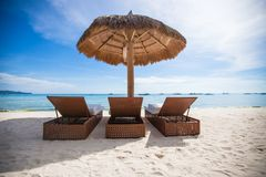 Взгляд рая славного тропического пустого песочного plage Стоковое Фото