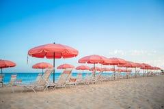 Взгляд рая тропического экзотического пляжа Стоковая Фотография