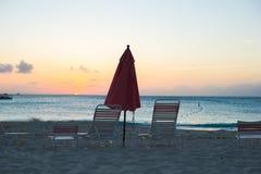 Взгляд рая тропического экзотического пляжа Стоковые Фотографии RF