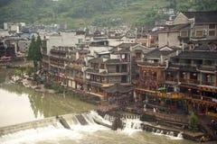 Взгляд древнего города Fenghuang стоковые фото