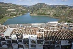 Взгляд резервуара Iznajar стоковые фотографии rf