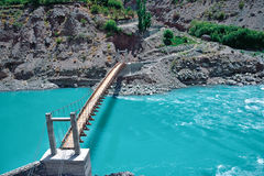 Взгляд река Инд, Leh-Ladakh, Джамму и Кашмир, Индии Стоковое фото RF