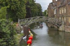 Взгляд реки в Кембридже Стоковая Фотография