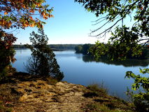 Взгляд реки Иллинойса сценарный Стоковое Изображение