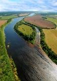 Взгляд реки сверху Стоковое Фото