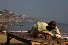 Взгляд реки Varanesi и Ganger Стоковое Фото