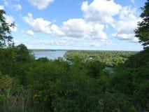 Взгляд Рекы Ниагара окруженной вегетацией Стоковое Изображение
