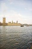 Взгляд Рекы Темза широкий Стоковое Фото