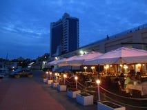 Взгляд ресторана, Украина ночи Стоковая Фотография RF