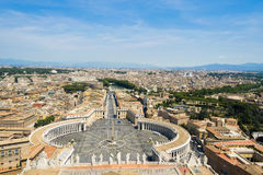 Взгляд Рима от верхней части базилики St Peters Стоковые Изображения RF