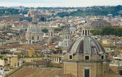 Взгляд Рима от высоты Стоковое Изображение