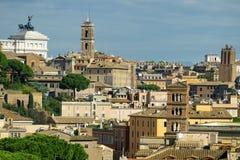 Взгляд Рима от холма Aventine Стоковые Фото