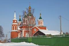 Взгляд России Kolomna исторической разбивочной церков стоковое фото rf