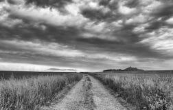 Взгляд руин замка Hazmburk Стоковые Изображения RF