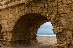 Взгляд руин римского мост-водовода - 10 Стоковые Фотографии RF