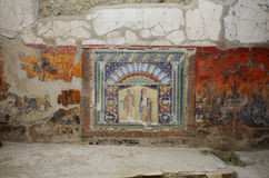 Взгляд руин Ercolano, разрушенных Vesuvius Стоковое Изображение RF