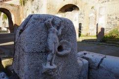 Взгляд руин Ercolano, разрушенных Vesuvius Стоковое фото RF