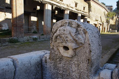 Взгляд руин Ercolano, разрушенных Vesuvius Стоковые Изображения RF