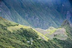 Взгляд руин Machu Picchu Стоковое Изображение RF