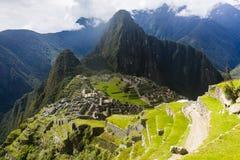 Взгляд руин Machu Picchu Стоковые Изображения RF