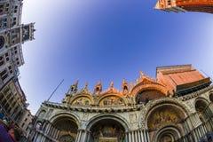 взгляд Рыб-глаза квадрата Сан Marco в Венеции, Италии 6 Стоковое Изображение RF