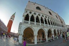 взгляд Рыб-глаза квадрата Сан Marco в Венеции, Италии 5 Стоковое Изображение RF