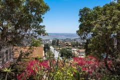Взгляд Сан-Диего от Spring Valley, Калифорнии стоковое фото rf