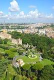 Взгляд сада в Ватикане, Риме, Италии Стоковые Фотографии RF