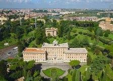 Взгляд сада в Ватикане, Риме, Италии Стоковые Изображения RF