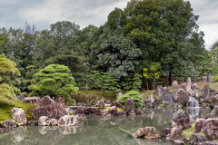 Взгляд сада Ninomaru на замке Nijo Стоковые Фото