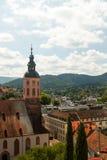 Взгляд сверху Баден-Бадена, Германии Стоковые Изображения