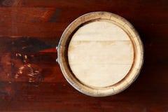 Взгляд сверху бочонка дуба Стоковые Фото