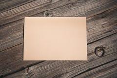 Взгляд сверху бумажного листа стоковое изображение
