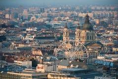 Взгляд сверху выравниваясь Будапешта Стоковое Фото