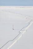 Взгляд сверху газопровода в тундре Стоковые Изображения RF